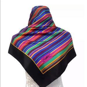 YslScarf Square Colorful Striped Retro